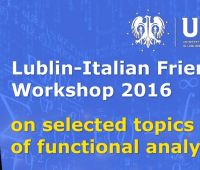 Lublin-Italian Friends Workshop 2016