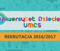 Trwają zapisy na zajęcia Uniwersytetu Dziecięcego UMCS