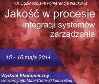 XII Ogólnopolska Konferencja Naukowa: Jakość w procesie...