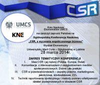 Ogólnopolska Konferencja Naukowa: CSR a wyzwania...