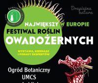 Festiwal Roślin Owadożernych w Ogrodzie Botanicznym UMCS