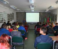 Visita dos alunos do Agrupamento de Escolas nº 2 em Dęblin