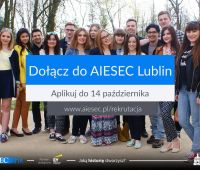 Rekrutacja studentów do organzacji AIESEC Lublin otwarta