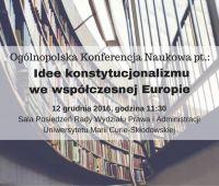 Idee konstytucjonalizmu we współczesnej Europie...