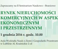 Seminarium nt. rynku nieruchomości komercyjnych