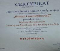 Finanse i rachunkowość z wyróżniającą oceną PKA