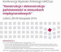 Konferencja: Konstrukcje i dekonstrukcje państwowości