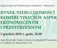Zaproszenie na seminarium o rynku nieruchomości komercyjnych