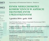 """Seminarium """"Rynek nieruchomości komercyjnych w..."""