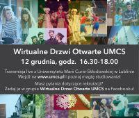 Wirtualne Drzwi Otwarte UMCS - zaproszenie