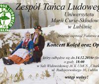 Koncert kolęd Zespołu Tańca Ludowego UMCS - zaproszenie