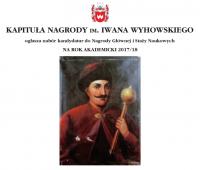 Nabór kandydatur do Nagrody im. Iwana Wyhowskiego