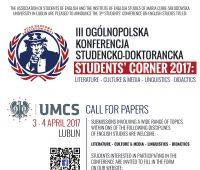 "Konferencja ""Students' Corner 2017"" -..."