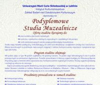 Rekrutacja na studia muzealnicze (do 31 stycznia)