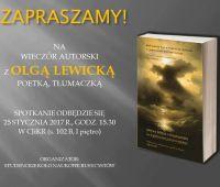Spotkanie autorskie z poetką i tłumaczką Olgą Lewicką