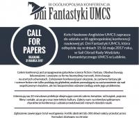 """Dni Fantastyki UMCS"" - zgłoszenia do 31 marca..."