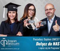 Absolwenci w kampanii promującej Program Absolwent UMCS
