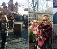 Studentki rusycystyki pozdrawiają z Moskwy