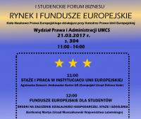 I Studenckie Forum Biznesu: Rynek i Fundusze Europejskie
