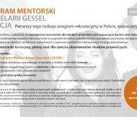 Program Mentorski Kancelarii GESSEL – Rekrutacja...