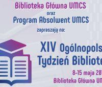 Ogólnopolski Tydzień Bibliotek - zaproszenie, 12 maja