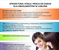 Spotkanie rekrutacyjne z firmą OK. Centrum Języków Obcych