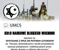 Spotkanie z ppłk. dr. Piotrem Lotarskim