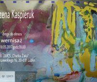 """Wystawa """"Droga do obrazu"""" Marzeny Kaspieruk"""