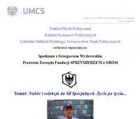Spotkanie z Grzegorzem Wydrowskim