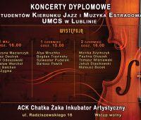 Koncerty dyplomowe kierunku Jazz i muzyka estradowa