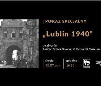 Relacja z pokazu filmu o Lublinie z 1940 roku