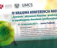 Sprawozdanie z IV Krajowej Konferencji Naukowej: Żywienie...