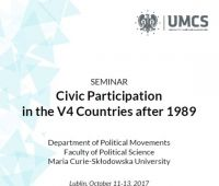 Seminarium: Civic Participatoin in the V4 countries after...