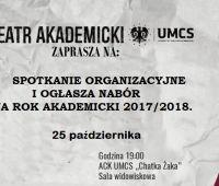 Nabór do Teatru Akademickiego UMCS