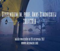 Stypendium im. Anny Stadnickiej - nabór wniosków 2017/2018