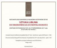 Konferencja: Sztuka Lublina. Od średniowiecza do...