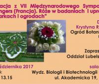"""Wykład pt. """"Relacja z VII Międzynarodowego Sympozjum..."""