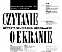 """""""Czytanie o ekranie: otwarte seminarium groznawcze"""" na UMCS"""
