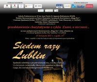 """""""Siedem razy Lublin"""" – zaproszenie na przedstawienie"""