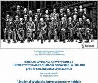 Studenci Wydziału Artystycznego w hołdzie Patronce