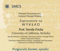 Wykład Prof. Davida Fricka pt. Przyjaciele, krewni,...