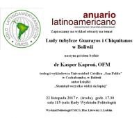 Ludy tubylcze w Boliwii - zaproszenie na wykład