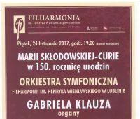 Koncert w 150. rocznicę urodzin patronki UMCS