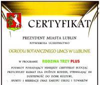 """Ogród Botaniczny """"Partnerem Miasta Lublin"""""""