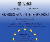 """Sympozjum naukowe: """"Przebudowa Unii Europejskiej"""""""