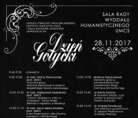 Zaproszenie na Dzień Gotycki (28.11.2017)