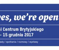 Yes, we're open! Centrum Brytyjskie UMCS zaprasza