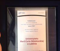 Prestiżowa nagroda dla CNiCJO UMCS od ETS Global