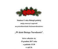 """""""W dzień Bożego Narodzenia"""" - przedstawienie..."""