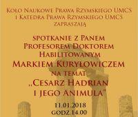 "Seminarium naukowe nt. ""Cesarz Hadrian i jego..."